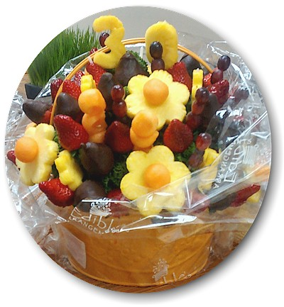 One of the unique gifts we received celebrating our 30th anniversary, an edible fruit basket.