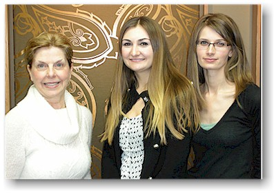 Claudia, Emily and Jennifer, our Showroom Staff in 2011.