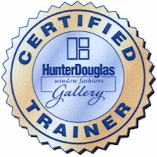 In February 2005 Kurt and Claudia Evers, owners of The Blind Alley attended the four day Window Fashions Gallery Certified Training at Hunter Douglas in Broomfield, Colorado. Kurt and Claudia received training and certification with the goal of providing customers with a thoroughly satisfying shopping experience.