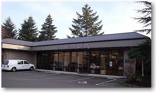 So Blind Alley was born on March 31, 1984 at 14020 NE 21st Street, Suite A in the Overlake area of east Bellevue. In 1988 the showroom was moved across the parking lot to the current location at 14102 NE 21st Street.